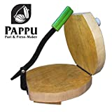 PAPPU Wooden Akhand (Speciality of Puri, Papad & Roti Making) Size: 9