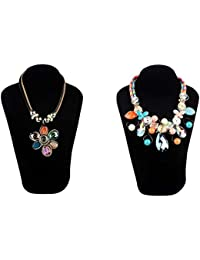 Stripes Presents Friendship Day Golden Colour Statement Necklace For Women/Girls (Buy 1 Get 1 Free Offer)