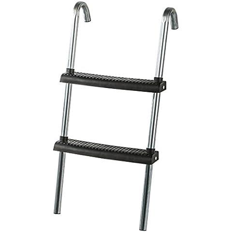 Ultrasport - Escalera para cama elástica, con travesaño de suelo, para todas las camas elásticas habituales, 75 cm, color plata y negro