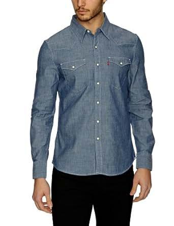 Levi's® - barstow western - chemise - homme - bleu (blue chambray) - Medium