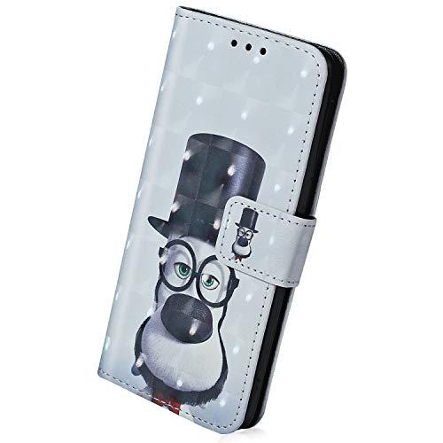 Herbests Lederhülle für iPhone XS Handytasche 3D Bunt Luxus Glitzer Bling Glänzend Leder Tasche Flip Case Cover Kunstleder Tasche Brieftasche im Bookstyle Klapphülle,Bär