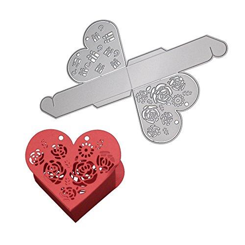 Bodhi2000® Herz Form Geschenk-Box Schneiden sterben Metall Embossing Schablone für Album Scrapbooking Xmas Hochzeit Geburtstag