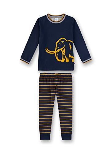 Sanetta Baby-Jungen Pyjama Zweiteiliger Schlafanzug, Blau (Nordic Blue 5962), (Herstellergröße: 104)