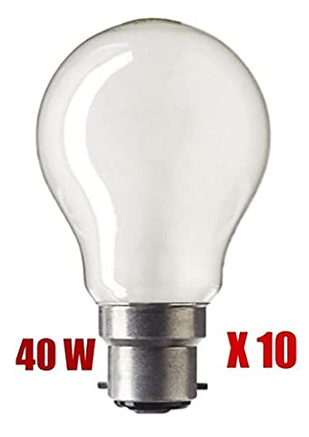 BC Pearl GLS Light Bulb Lamp 40 Watt 240V 10 X 40W
