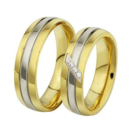 Aooaz Schmuck Herren Ring,Polieren Streifen Edelstahl Ehering Verlobungsringe für Herren Gold Silber Größe 65(20.7)
