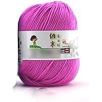 HuaYang Fil à tricoter laine cosy fil de laine pour tricoter à la main(1Pcs: Peche)
