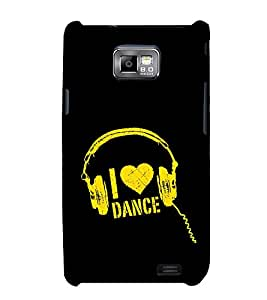 I Love Dance 3D Hard Polycarbonate Designer Back Case Cover for Samsung Galaxy S2 :: Samsung Galaxy S2 i9100