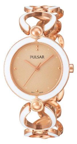 Pulsar Uhren Modern PH8030X1 - Reloj analógico de cuarzo para mujer, correa de aleación multicolor
