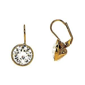 """Fashionvictime - Orecchini Per Le Donne - """"Eclats Diamant"""" - Placcato Oro - Crystals From Swarovski - Gioielli Senza Tempo -"""