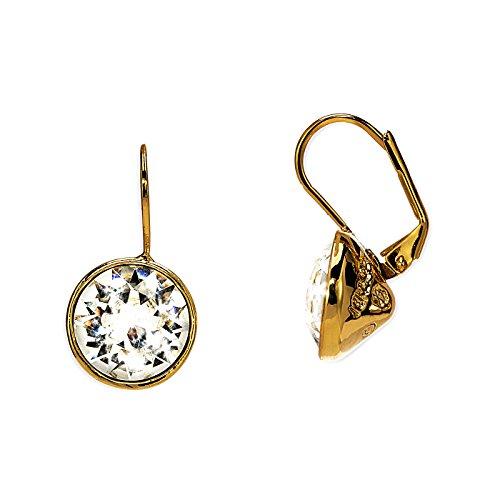 """Fashionvictime - Orecchini Per Le Donne - """"Eclats Diamant"""" - Placcato Oro - Crystals From Swarovski - Gioielli Senza Tempo - Saldi SanValentino"""