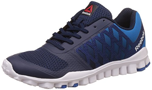 Reebok Men's Realflex Tr Lp Coll Navy, Cycle Blue and Wht Walking Shoes - 7 UK/India (40.5 EU)(8 US) (BS6927)