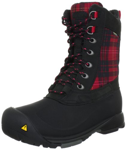Keen SNOWDEN W-BLACK/BARBERRY 1007955, Stivali da neve donna, Rosso (Rot (Black/Barberry)), 39.5