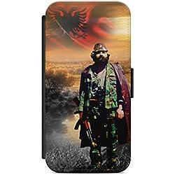 aina iPhone 7 Flipcase Tasche mit Magnetverschluss aufklappbar mit Standfunktion Albanien Adem Jashari