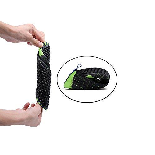 ROMANTIC BEAR Women Men Quick Dry Aqua Shoes Sports Water Socks with Holey Ventilation Pool A10:Green