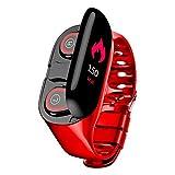 2 en 1 audífonos con reloj, monitor de fitness, IP67 resistente al agua, con monitor de frecuencia cardíaca, monitor de sueño