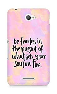 AMEZ be fearless i the pursuit Back Cover For Sony Xperia E4