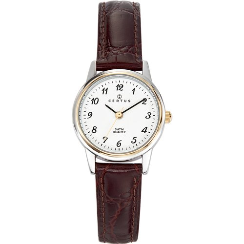 Certus Damen-Armbanduhr Analog Leder braun 645314