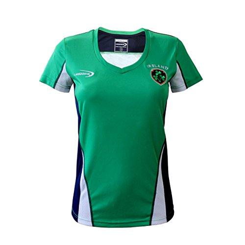 Lansdowne Emerald Ireland Crest Performance Damen Shirt Top - Grün - X-Large -