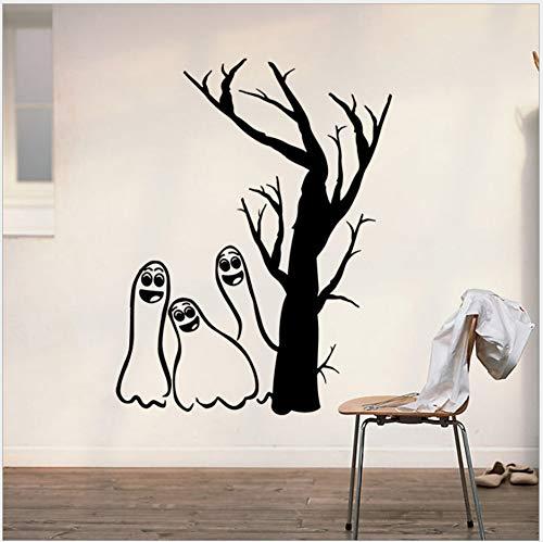 Schwarz Geschnitzte Teufel Baum Halloween Aufkleber Kreative Wanddekoration Geist 3D Wandaufkleber 42 * 48 Cm