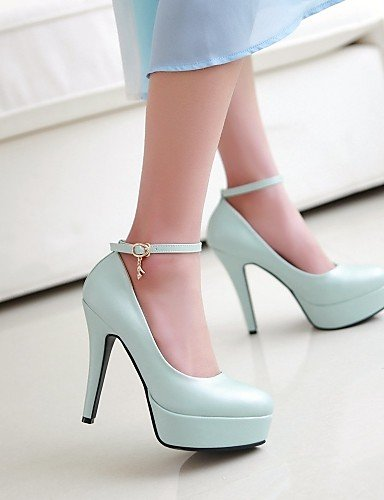 WSS 2016 Chaussures Femme-Bureau & Travail / Habillé / Décontracté-Noir / Bleu / Rose / Blanc-Gros Talon-Talons / A Plateau-Chaussures à Talons- black-us8 / eu39 / uk6 / cn39