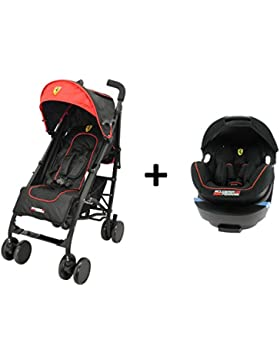 Cochecito Ferrari Lege ¨ re y Compact + Grupo 0+ (de 0E 13kg) Grand Confort–Creación francesa–rojo