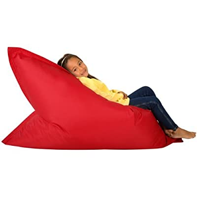 Hi-BagZ® KIDS Bean Bag 4-Way Lounger - GIANT Childrens Bean Bags Outdoor Floor Cushion RED - 100% Water Resistant ...
