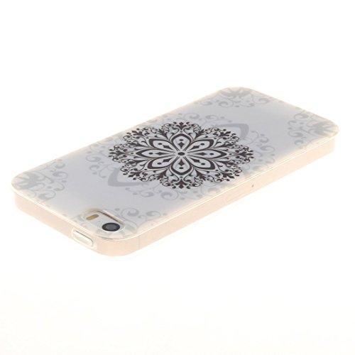 Xf-fly® iPhone SE / 5 / 5S Hülle mit TPU Silikon Material und Retro Farblich Muster Schutzhülle Handytasche für Apple iPhone SE / 5 / 5S(4.0 Zoll) P-13
