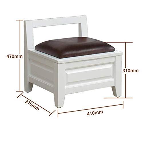 Ljfymx sgabello basso poggiapiedi, sgabello quadrato in legno massello sgabuzzino piccolo per lo sgabello sgabello per bambini piccolo sgabello (color : a)