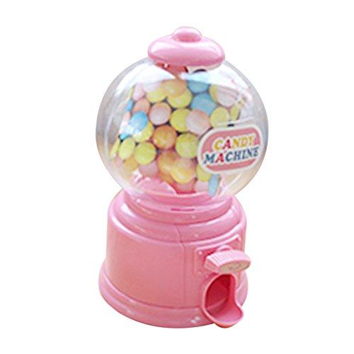Baoblaze Mini Gumball Süßigkeiten Spender Automaten Süßigkeitenautomat Vending Machine - Rosa