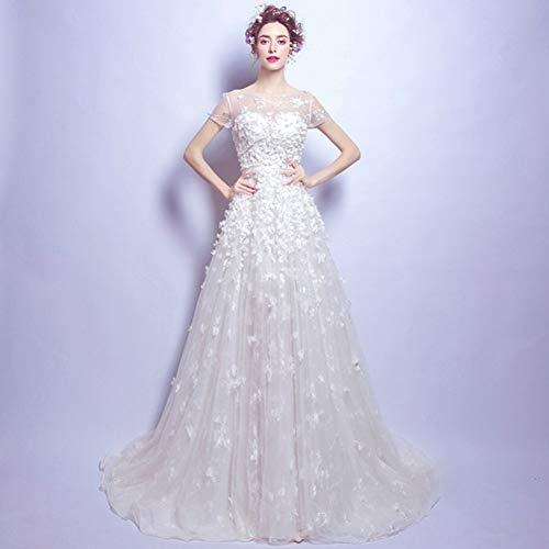 YT-RE Brautkleid-Fußbodenlängenperspektivenkleid des Romantischen Hochzeitskleides Der Reizvollen...
