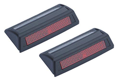 Preisvergleich Produktbild hr-imotion Kanten - Doppel-Reflektoren Set - 2 Stk je 86 mm Lang [Selbstklebend | Made in Germany | Fahrzeuge & Heim] - 12110301