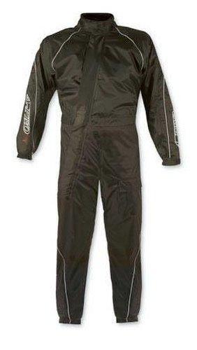 A-Pro Regenkombi Wasserdicht Motorrad Regenhose Regenjacke Regenanzug Schwarz 3XL