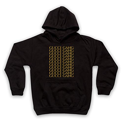 Inspired Apparel Inspired by Lil Pump Gucci Gang Gold Print Unofficial Kids  Hoodie 2542b0ccfef0