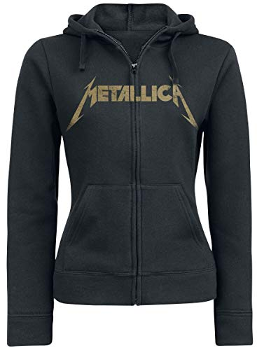 Metallica Hetfield Iron Cross Guitar Capucha con Cremallera Negro M