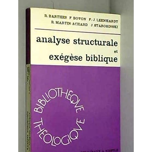 Analyse structurale et exégèse biblique