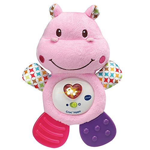 VTech- Croc' Hippo Rose Baby Jouet Premier Age, HOCHET, 80-502555 VTech