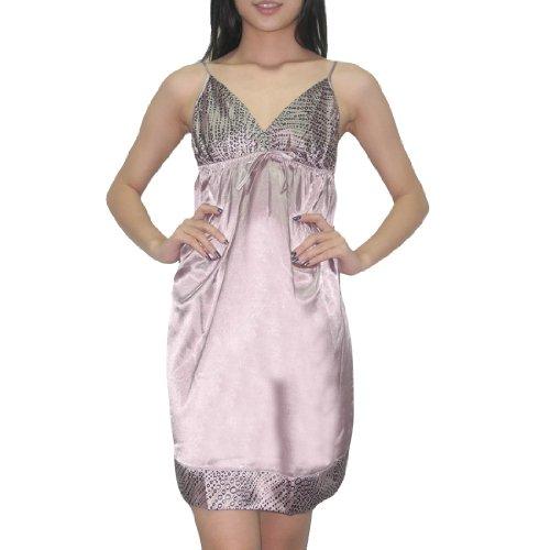 Silk Couture Damen Sexy Wunderschöne Nachtwäsche Kleid / Nightgown S-M Light Purple (Couture Nachtwäsche)