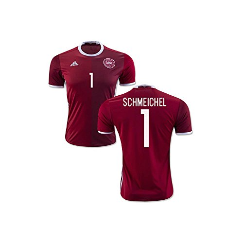 2016-2017 Denmark Home Football Soccer T-Shirt Camiseta (Peter Schmeichel 1) - Kids