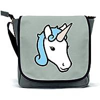 Unicorn Messenger Bag/Satchel | Pink, Blue Grey | Waterproof Canvas | By Paw Prints