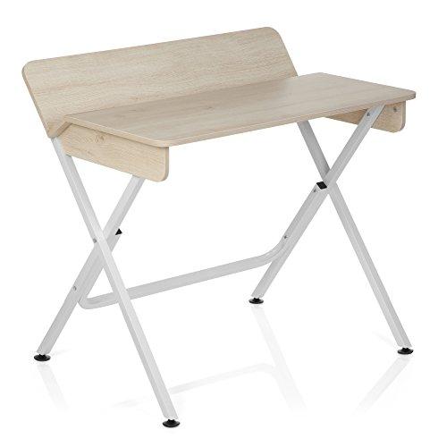 hreibtisch BERNEO Holz Ahorn / Weiß Computer-Tisch (Billig Tisch)