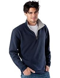 Schweres Piqué Sweatshirt mit 1/4 Reißverschluss