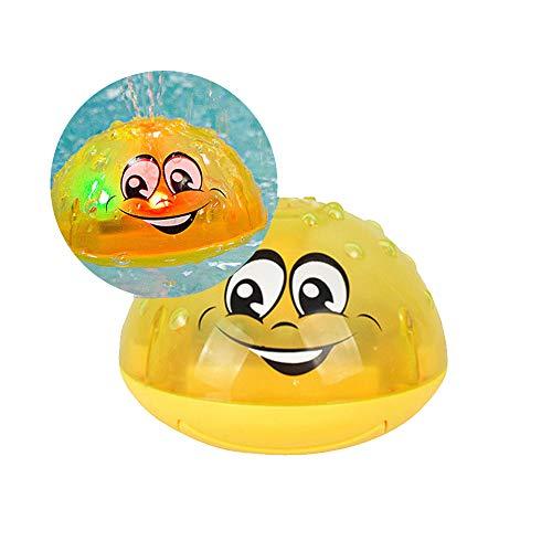 XUMING Baby Bad Spielzeug Neue elektrische Induktion Wasserdüsen in das Bad Licht Musik Amphibien Wasser Jet Ball Baby Dusche Wasser Bad Spielzeug Jungen und Mädchen 2-6 Jahre alt,A (Badewanne Wasserdüsen)