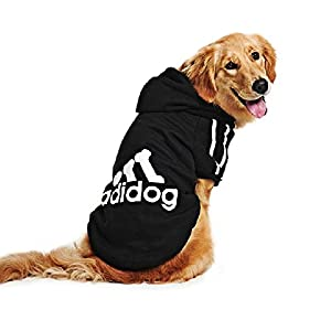 DULEE Adidog Winter Hoodie de chien Sweater Warm Shirt Manteau d'animal familier pour petit et grand chien