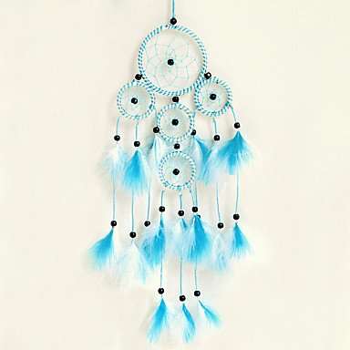 41aWGfPptqL UK BEST BUY #1HHBO 1PC Dream Catcher Decor Hanging With Feathers Hanging Decoration Dreamcatcher Net India Style Hourse Decoration , blue