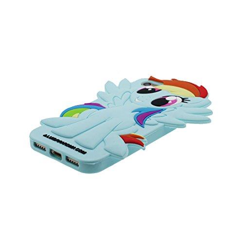 """iPhone 7 Plus Hülle, TPU Gel Shell für Mädchen Handyhülle iPhone 7 Plus Cover 5.5""""- Lovely 3D Cartoon Ice Cream Stripe, Anti-Schock-Kratzer blau"""