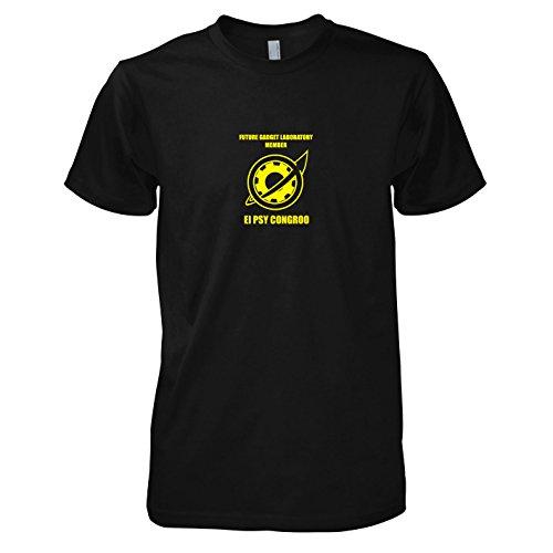 TEXLAB - El Psy Congroo - Herren T-Shirt, Größe L, (Kostüme Psy)