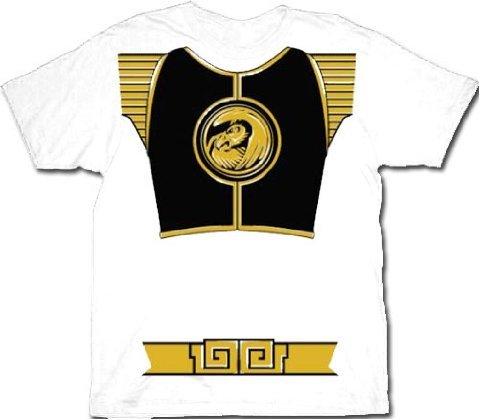 Ranger White Kostüm - White Ranger Kostüm Erwachsene T-Shirt, Medium