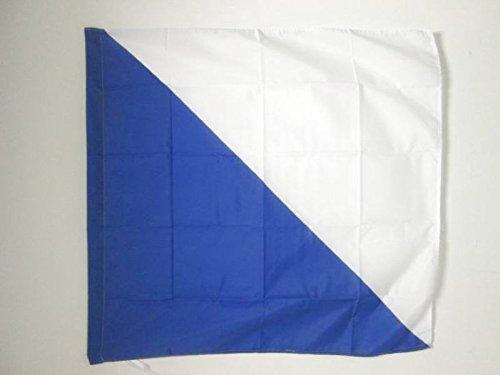 FLAGGE KANTON ZÜRICH 90x90cm - KANTON ZH FAHNE 90 x 90 cm scheide für Mast - flaggen AZ FLAG Top Qualität
