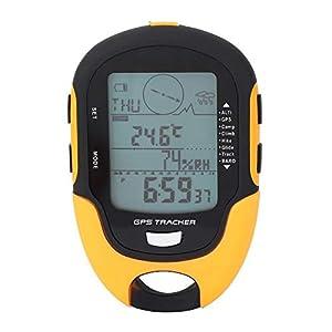 Höhenmesser Barometer, GPS-Navigationsrezeptor Tragbarer USB wiederaufladbarer Digitaler Höhenmesser Kompass LCD…