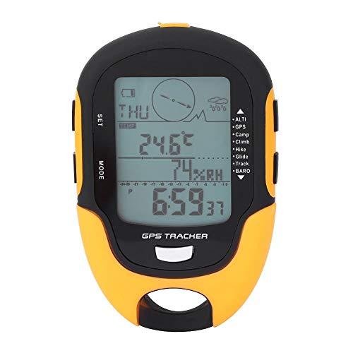 Tbest Höhenmesser Barometer, GPS-Navigationsrezeptor Tragbarer USB wiederaufladbarer Digitaler Höhenmesser Kompass LCD-Thermometer mit LED-Taschenlampe für Camping Wandern Klettern im Freiensport